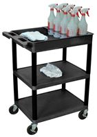 Picture of 3 SHELF CART W/ 8 BOTTLE ORGANIZER