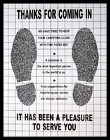 "Picture of PAPER FLOOR MATS with""footprints"""