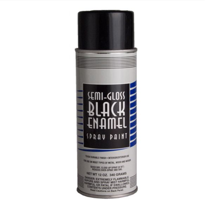 Black semi gloss spray paint